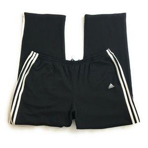 Adidas Mens Black Soft Track Pants Joggers, Large